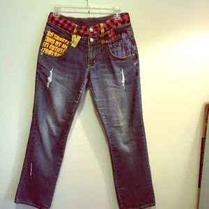 Disney rare design jeans. Somewhat adjusting.